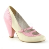 POPPY-18 Baby Pink/Cream Faux Leather